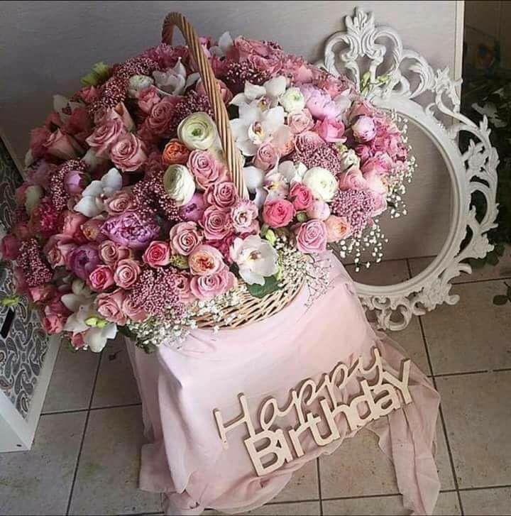 Красивые картинки с букетами с днем рождения