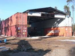 shipping container barn building | Shipping/Cargo containers generally require footing at each of the ...