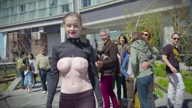 Модель прошлась по улицам Нью-Йорка топлес в поддержку движения Свободу соскам #лайфхаки #технологии #вдохновение #приложения #рецепты #видео #спорт #стиль_жизни #лайфстайл