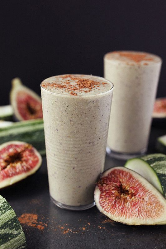 Zucchini Fig Smoothie // @tastyyummies // #glutenfree #vegan