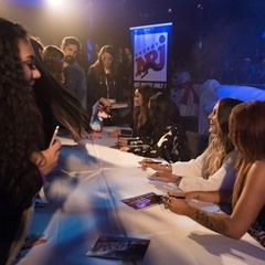 British girl band Little Mix signs autographs at the Europa-Park in Rust, Germany