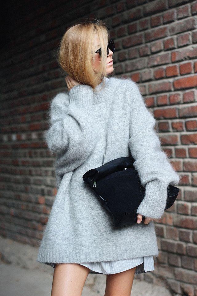 Best 25  Fluffy sweater ideas on Pinterest | Oversized grey ...