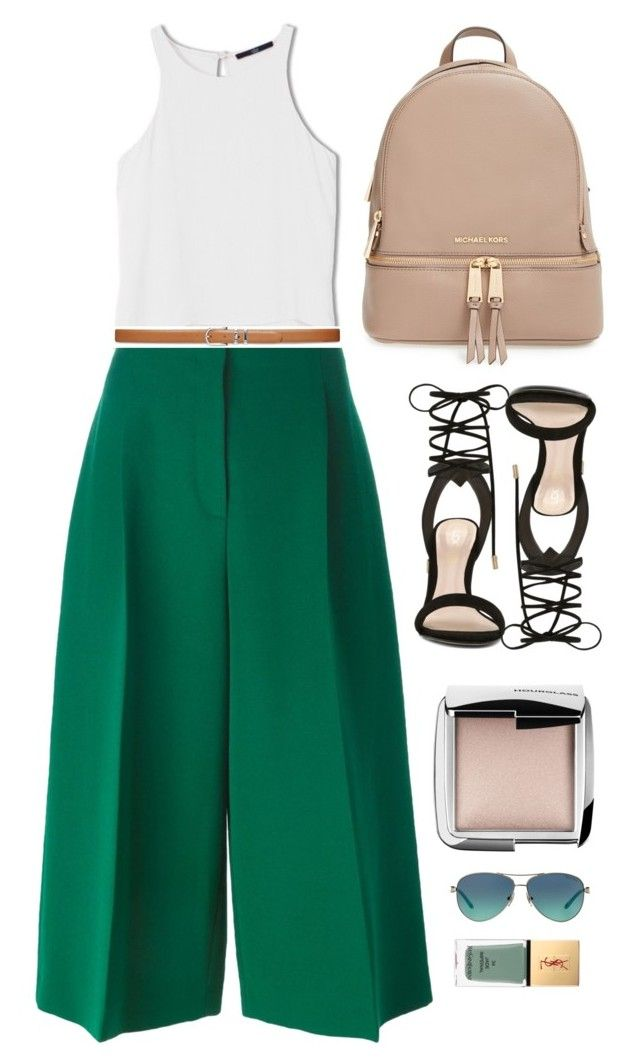 """GREEN"" by laughtersassassin ❤ liked on Polyvore featuring MICHAEL Michael Kors, Tiffany & Co., Hourglass Cosmetics, ALDO, TIBI, Yves Saint Laurent, Valentino, Lauren Ralph Lauren, women's clothing and women"
