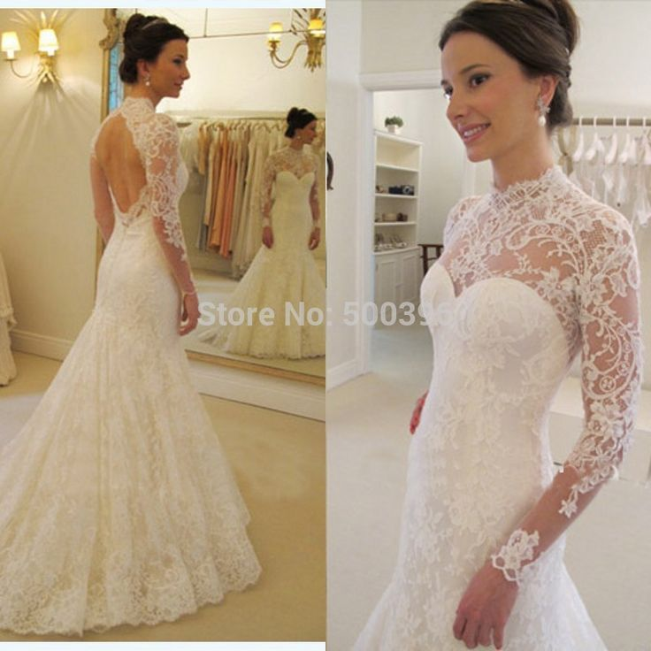 collared wedding dress open back - Google Search