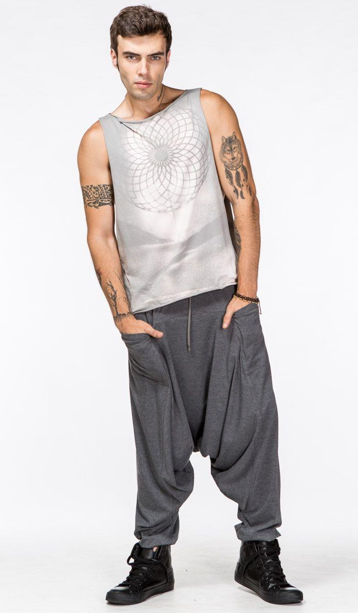 http://indiastyle.ru/men-pants-alladin/product/alladiny-vostochnyj-veter Мужские серые алладины из хлопка премиального качества (штаны-шаровары для йоги с карманами) Grey Men's Yoga Pants 1590 рублей
