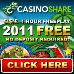 Play With $2011 FREE! We will give you $2011 and 60 minutes to make as much money as you can!  No Risk Casino Play! Play at Casino Share...