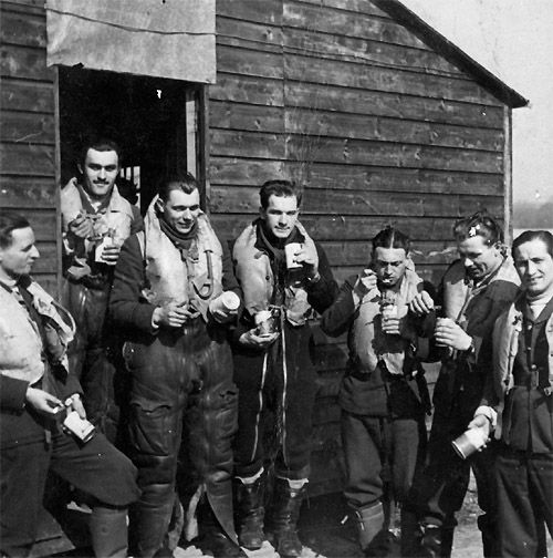 Pilots of No 302 Squadron RAF group for the camera at RAF Leconfield in early October 1940. The squadron was formed on 13 July 1940 around a core of 13 Polish airmen who had escaped from Poland in 1939 and then France in 1940. As the combat became more fierce, they were moved south to RAF Northolt on 11 October, arriving on the same day that No 303 Squadron RAF moved to the former airfield.