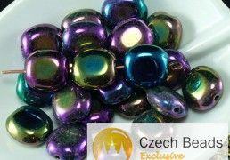 Flat, Large, Turquoise and Other Oval Czech Glass Beads for Sale ...