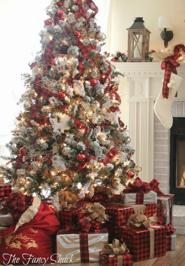 Plaid Christmas Tree Ideas Plaid Is Always In Style Plaid Christmas Tree Christmas Home Farmhouse Christmas