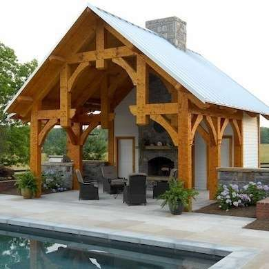 9 Incredibly Cool Pool Houses Timber Frame