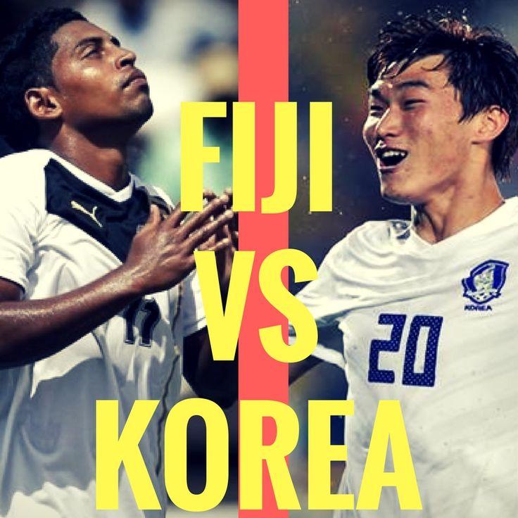 Fiji vs Korea  #olympics #rio2016 #football #soccer #futebol