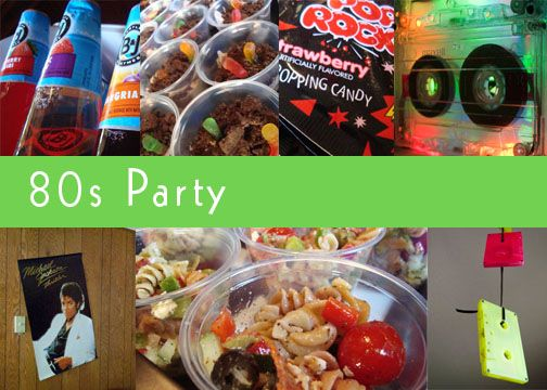 Easy and affordable food and decor ideas for 80s party