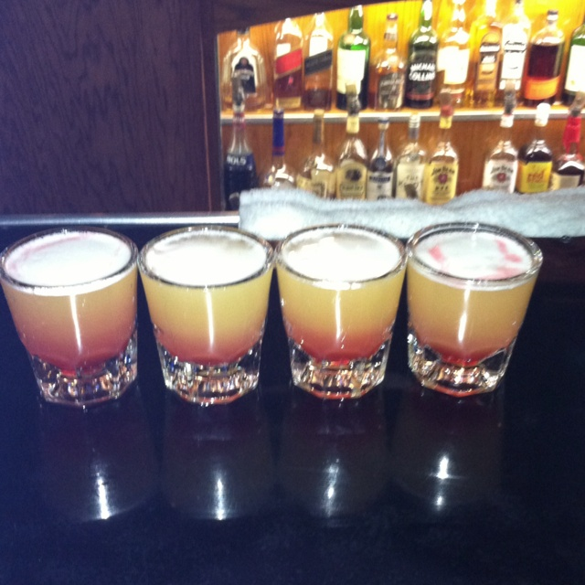 "Fruit Loop Shooters with 3 olives vodka ""loopy"" :)  Here's one for ya Demi!! lol"