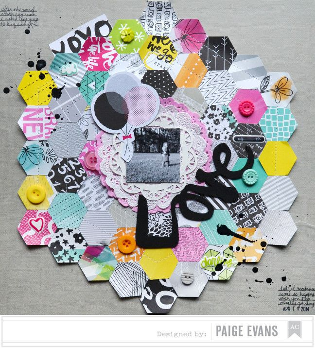 #papercraft #scrapbook #layout. Love by PaigeEvans at @studio_calico