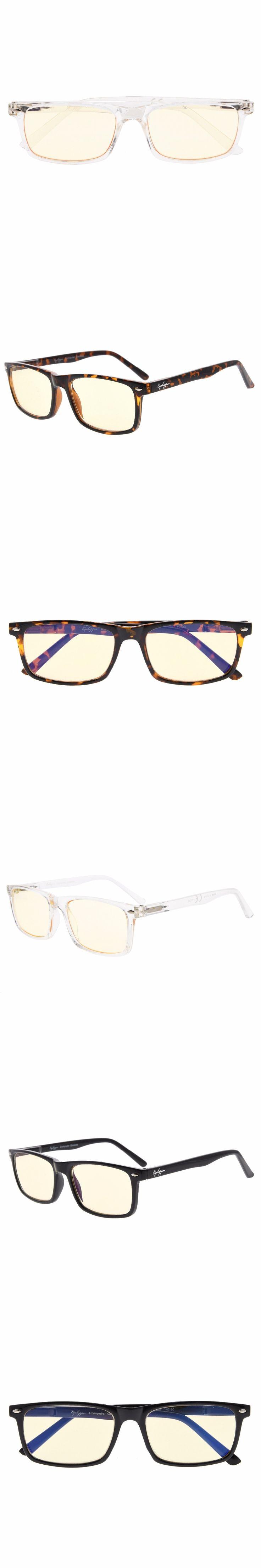 CG899-6 Eyekepper UV Protection, Anti Glare Eyeglasses,Anti Blue Rays, Spring Hinges Computer Reading Glasses Yellow Tinted Lens