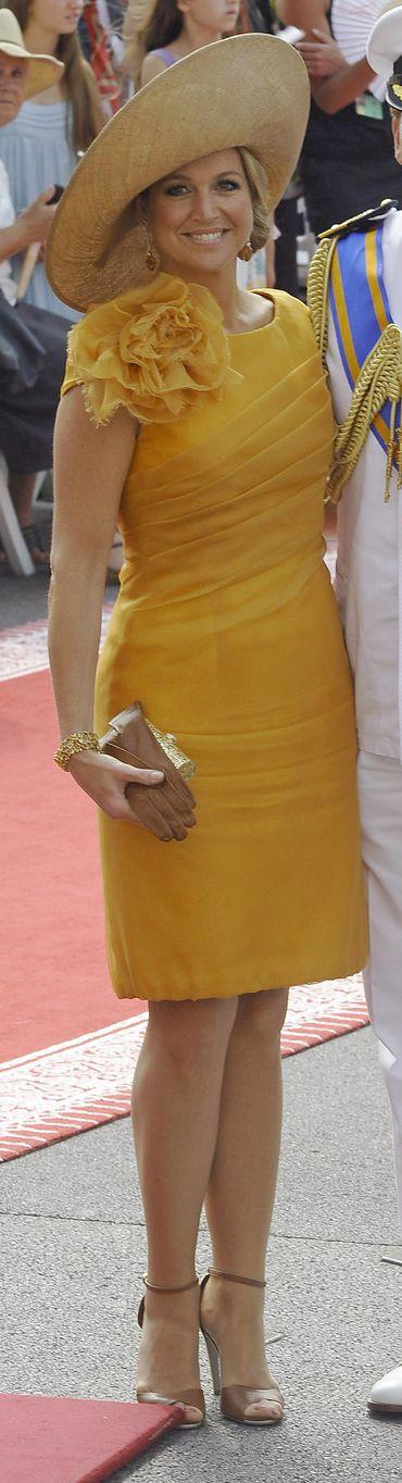 Máxima bij het huwelijk van Albert en Charlene van Monaco, 2011