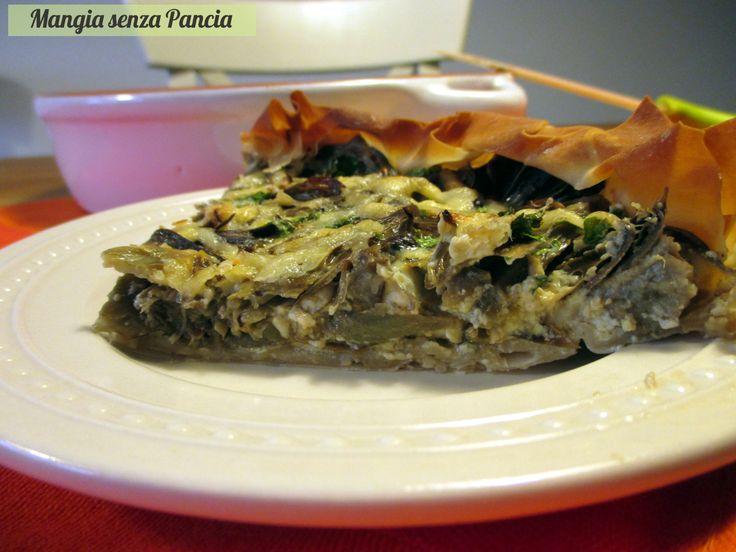 Che buona la quiche di carciofi e formaggio preparata con la pasta fillo: croccante fuori e morbida dentro!