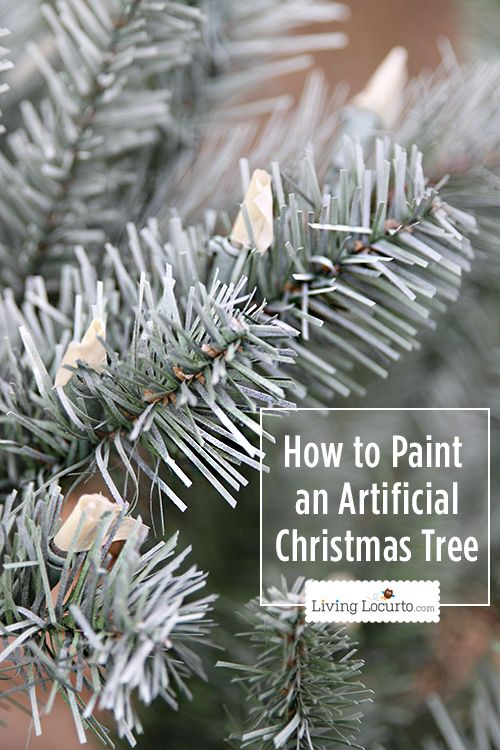 How to Paint an Artificial #Christmas Tree.