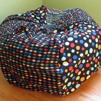 DIY Bean Bag Chair for a toddler room