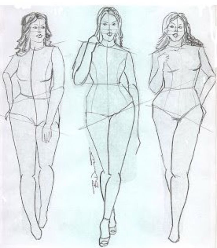 Рисованная женская фигура картинка