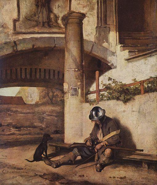 Карел Фабрициус (1622-1654) — Спящий страж. 1654. Шверин. Государственный музей.