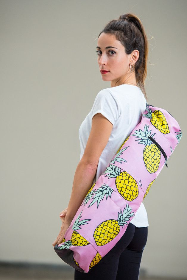 Bunte Ananas-Tasche für deine Yogamatte/ pineapple bag for your yoga mat  made by lovecuts via DaWanda.com