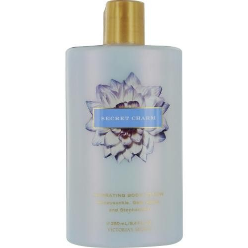 SECRET CHARM BODY LOTION 8.4 OZ Design House: Victoria's Secret Year Introduced: 1989 Fragrance Notes: Rose, Gardenia, Hyacinth, Sweet Pea, Pear And Vanilla Recommended Use: Casual