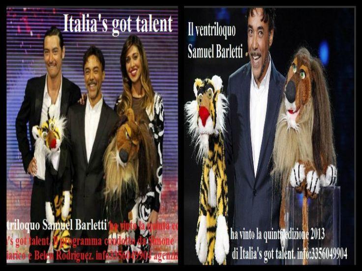 Samuel Barletti ha vinto la quinta edizione di Italia's got talent. Il programma condotto da Simone Annichiarico e Belen Rodriguez.info3356049904 agenzia MadeinBo agente