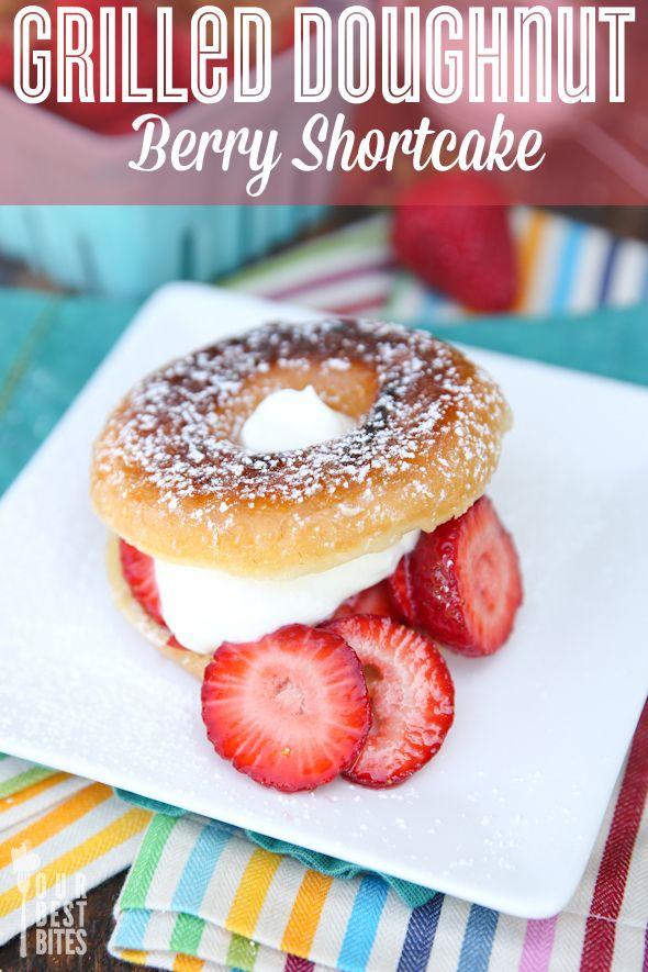 Grilled Doughnut Strawberry Shortcake