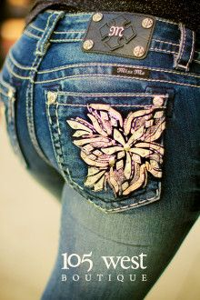 """""""Blush Blossom"""" Miss Me Bootcut Jeans.  Available in sizes 25 - 34.  ~ 105 West Boutique located in Abbeville, SC.  (864) 366-WEST.  Shipping $5.  Look for us on Facebook!"""