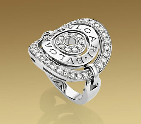 bulgari astrale ring in white gold with pav diamonds