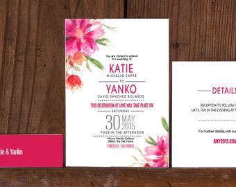 Rustikal moderne florale Hochzeitseinladungen von Bdesignspaper