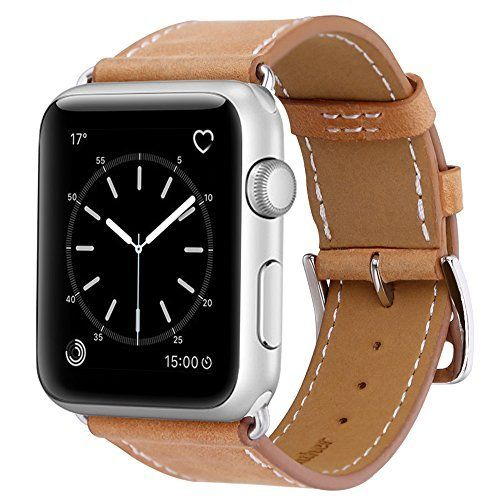 #6: Marge Plus Apple Watch Band Genuine Leather iWatch Strap for Apple Watch Series 2 Series 1 38mm Brown This ranks among the best of the top items sold online in Wireless  category in USA. Click below to see its Availability and Price in YOUR country.