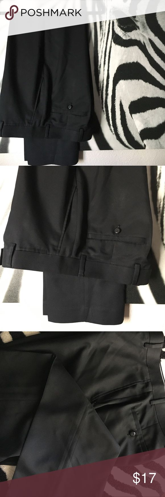 MENS Louis Raphael Black Dress Slacks MENS Louis Raphael Black Dress Slacks. 100% polyester. Size 32/32. In EXCELLENT preloved condition with no stains, tears, or odors. Have been professionally dry cleaned and pressed with light starch. Louis Raphael Pants Dress