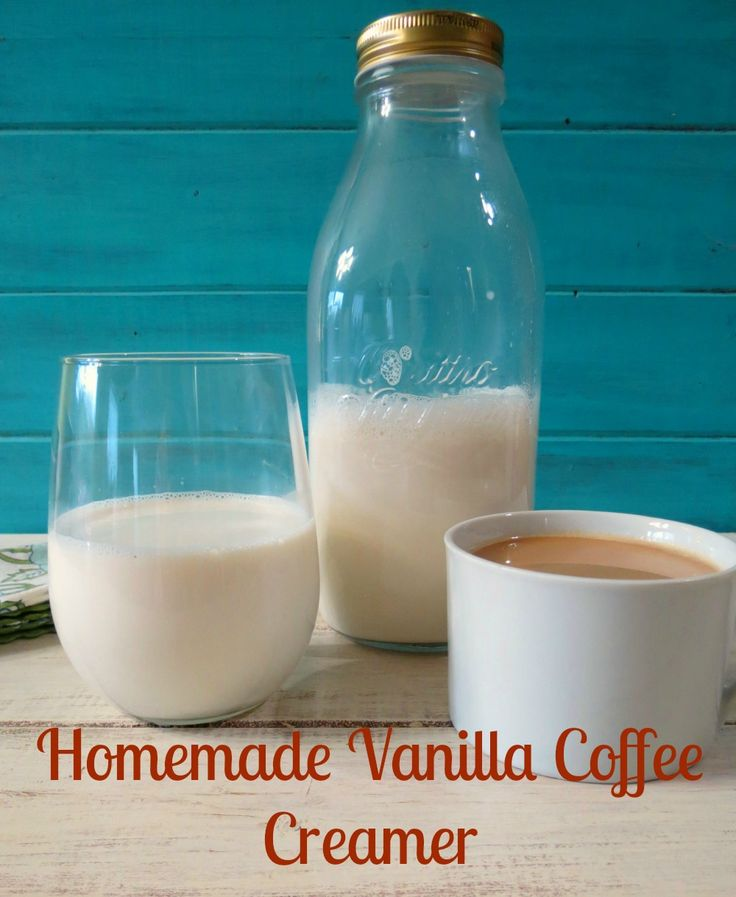 DIY Vanilla Coffee Creamer - A creamy, all natural vanilla flavored coffee creamer.