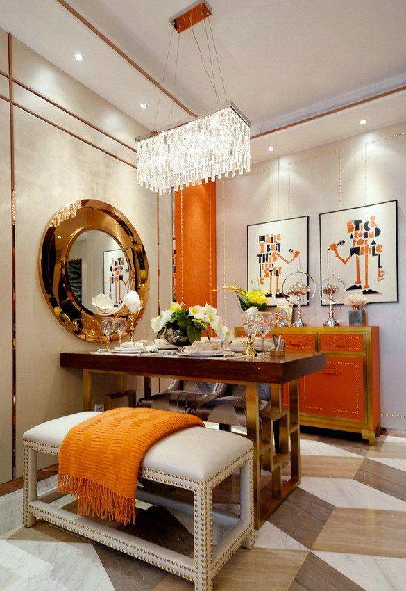 Orange interior decoration