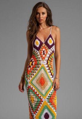 beautiful summer crochet dress - inspiracion