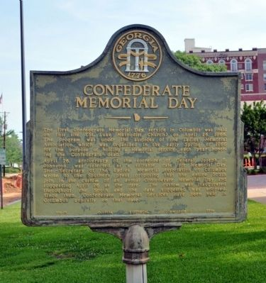 Confederate Memorial Day Marker. Click for full size.