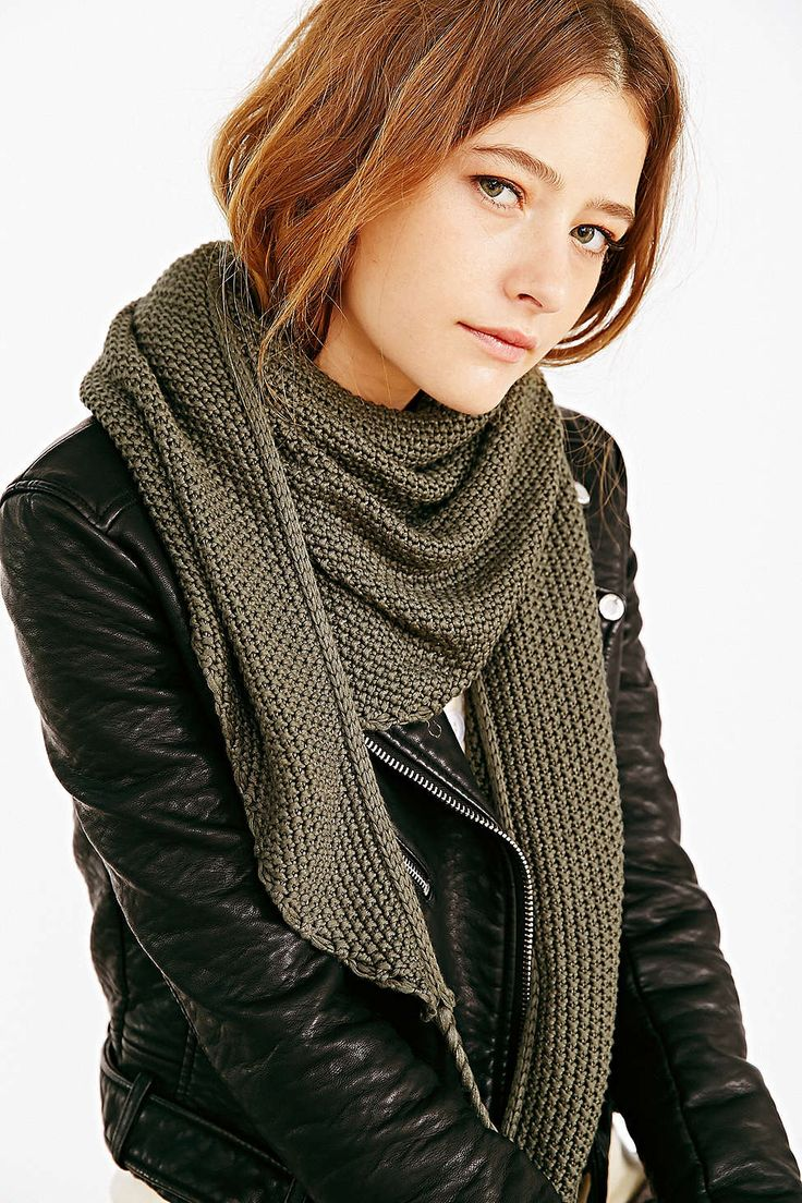 Oversized Tassle Triangle Scarf - Urban Outfitters