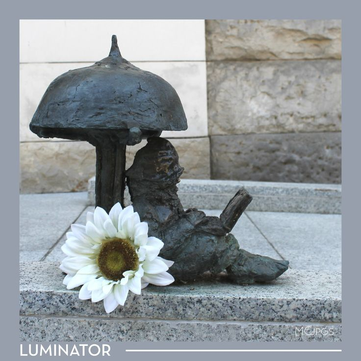 LUMINATOR is my favorite Dwarf. He is the most innovative and techy dwarf ever known. He works to provide supply of electricity and gas to entire dwarf's population of Wrocław its suburbs. Rumor has it he also likes taking pictures.