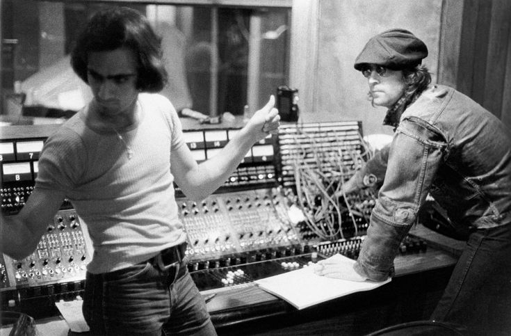 """Jimmy Iovine, a Master of Beats, Lends Apple a Skilled Ear.  Jimmy Iovine, left, and John Lennon in 1974, during the recording of Lennon's """"Walls and Bridges"""" album in New York."""