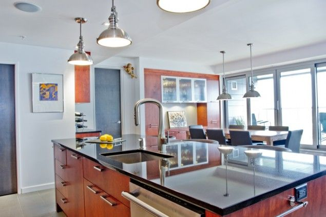 L lot et les armoires de la cuisine de style panneau plat for Placage armoire cuisine