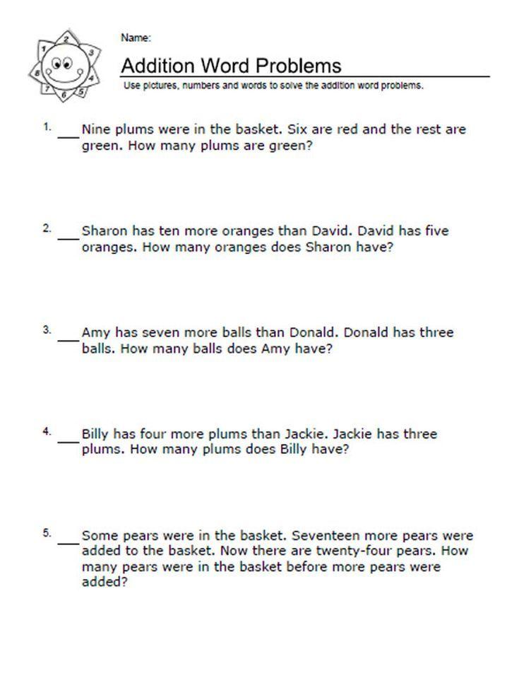 best 25 addition worksheets ideas on pinterest addition worksheets for kindergarten. Black Bedroom Furniture Sets. Home Design Ideas