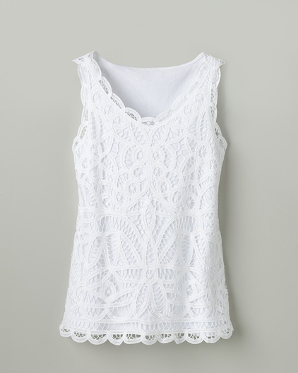 Everyday lace tank - is it dressy enough with a black bolero over it with black slacks?