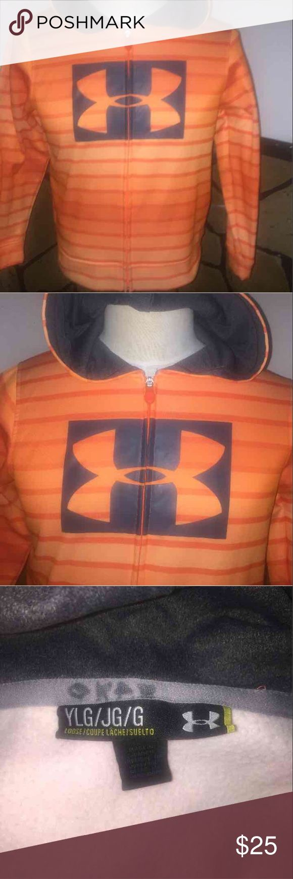 Under armer hoodie Size large boys youth under armer hoodie Under Armour Jackets & Coats Capes
