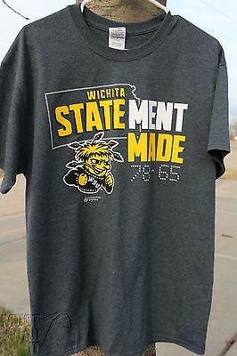 Wichita State Shockers StateMent Made Grey T-Shirt WSU Basketball Beat KU 2015