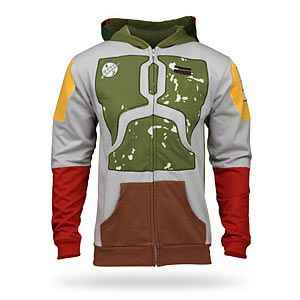 Boba Fett Hoodie. Only fellow star wars fans will get it, and they'll love it. others will think its just a cool coloring scheme!
