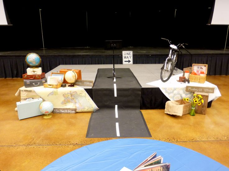 Journey Travel Theme Stage Decor Conference Ideas