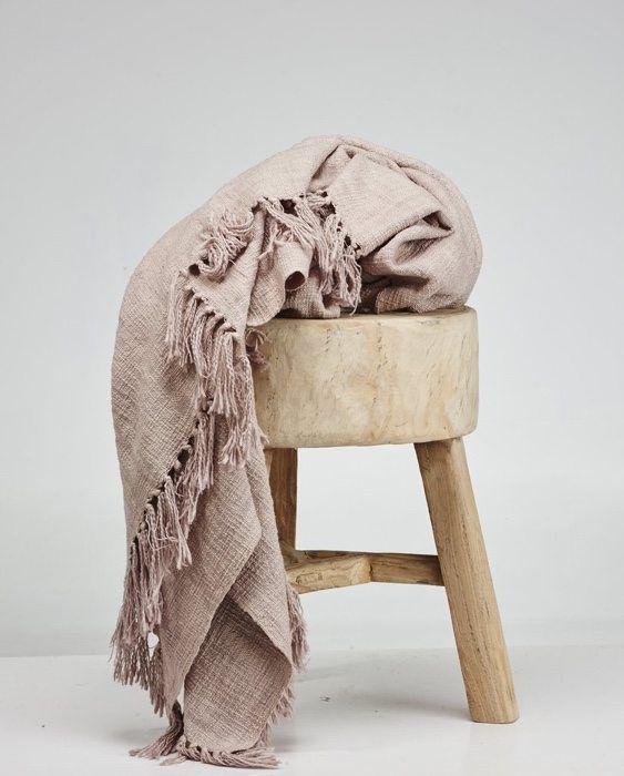 Handwoven khadi cotton throws by Cloth & co. at twenty21