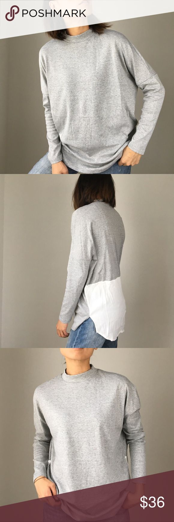 """Melanie chic casual dolman contrast top Quality cozy dolman contrast top. High grade polyblend cotton top. Cool casual oversized look. Contest block back. I'm wearing size S for cover shots. Size S:Bust ;50"""".length 27"""". Size M: bust 51"""", length 27@. Size L bust 52@, length 28"""". Best casual cozy top CHICBOMB Tops Tees - Long Sleeve"""